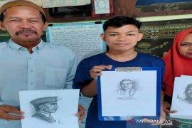 Salman, remaja putus sekolah berbakat melukis
