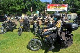 HUT ke-74 Bhayangkara, Polisi bagikan beras