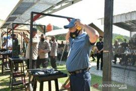 Gubernur Babel ikuti lomba menembak dalam rangka HUT Bhayangkara ke-74