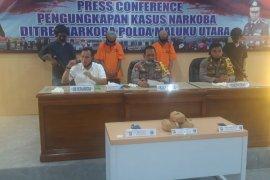 Polda Malut ringkus dua pengedar narkoba seberat 2,5 Kg