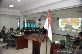 Video Conference  Kodam VI/MulawarmanBahas Upaya Pencegahan Penyebaran COVID-19
