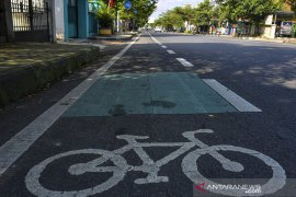 Jalur khusus sepeda di Ciamis