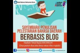 Balai Bahasa Kalimantan Barat gelar sayembara penulisan berbasis blog