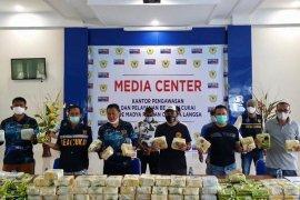 Bea cukai gagalkan penyelundupan 186,87 kg sabu-sabu sepanjang 2020 di Aceh
