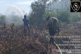 Karhutla sebabkan 10,5 hektare lahan di Aceh Barat terbakar