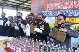 Polresta Sidoarjo musnahkan barang bukti narkoba hasil sitaan selama COVID-19