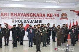 Polda Jambi gelar upacara  HUT ke-74  Bhayangkara secara virtual