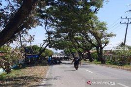 Rekannya ditahan, warga Mompang Julu Madina kembali blokir jalan