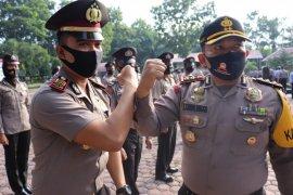 Kapolres Langkat terima korps raport 63 personel polisi
