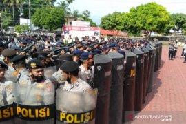 Kondisi di Madina aman, personel Satuan Brimob Sumut tetap disiagakan