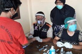 Polres Tebing Tinggi rapid test 20 tahanan