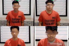 Inilah empat tersangka kasus sabu yang ditangkap di Ilung Pasar Lama dan Maringgit