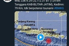 BPBD Kabupaten Blitar belum terima laporan kerusakan pascagempa