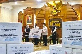 Erick Thohir  salurkan bantuan penanganan COVID-19 di Jatim