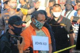Polda Metro Jaya hadirkan John Kei dalam rekonstruksi di rumah
