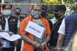 Polisi hadirkan John Kei dalam rekonstruksi di rumahnya