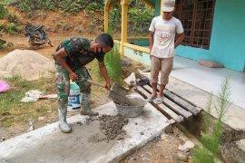 Satgas TMMD bantu warga Danti perbaiki Masjid Nurul Islam