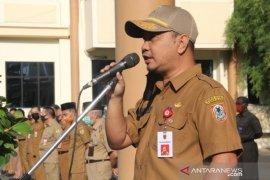 Faried Fakhmansyah pimpin apel perdananya sebagai penjabat Sekda HST