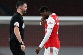 Mikel  Arteta berang karena Nketiah dikartumerahkan tapi Vardy tidak