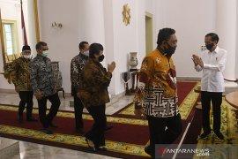 Presiden dan pimpinan MPR bertemu di Istana Bogor bicarakan RUU HIP