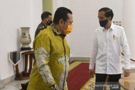 Presiden dan pimpinan MPR bicarakan RUU HIP di Istana Bogor