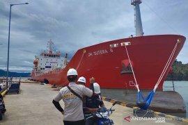 Kapal asing pengangkut CPO ke India kembali bersandar di Pelabuhan Calang