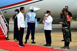 Presiden Jokowi tiba di Kalteng