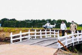 Presiden Jokowi datangi lumbung pangan nasional di Kapuas Kalimantan Tengah