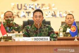 Kasad Jenderal TNI Andika Perkasa bahas COVID-19 dengan pemimpin Angkatan Darat se-ASEAN