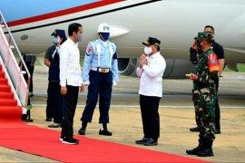 Presiden Jokowi tiba di Kalimantan Tengah terkait ketahanan pangan nasional