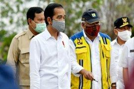 Presiden Jokowi tinjau lahan di Kapuas bersama gubernur dan sejumlah menteri