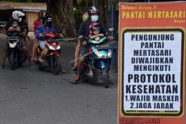 Pembatasan pengunjung pantai di Denpasar