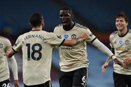 Manchester United tempel ketat empat besar setelah menang di markas Villa