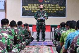 Pendam I/BB Kolonel Inf Zeni Djunaidi sosialisasikan penyalahgunaan narkoba bagi prajurit