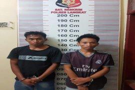 Polisi Pangkalan Susu Langkat tangkap dua pemakai sabu-sabu di areal kandang ayam