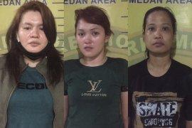 Polisi tangkap tiga perempuan pengedar sabu di Medan