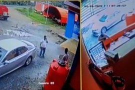Diduga curi thermogun di kantor BPBD, oknum pimpinan DPRD dan staf ini terekam CCTV