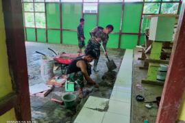 TMMD 108 lanjut lakukan perehapan Gereja Santa Maria