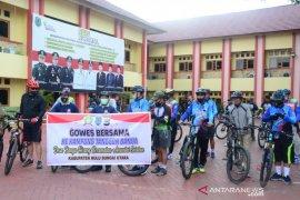Kapolres HSU pimpin gowes ke Kampung TangguhBanua