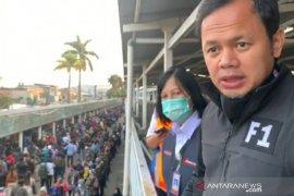 Bus bantuan untuk penumpang KRL di Stasiun Bogor hanya sementara