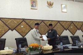 DPRD Padang setujui usulan revisi Ranperda nomot 6 tahun 2016 tentang pembentukan dan susunan perangkat daerah