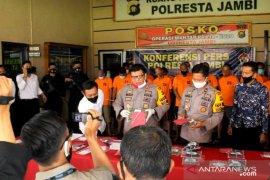 24 pelaku narkoba diringkus, Polisi Jambi kembangkan penyelidikan ke jaringan lapas