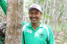 Balangan's rubber farmers remain to get profit amid the pandemic