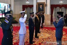 Presiden Jokowi melantik perwira TNI-Polri 2020 di Istana Negara