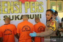 Empat pencuri peralatan menara  pemancar signal telepon ditangkap Polres Sukabumi
