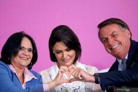 Istri presiden Brazil yang positif corona