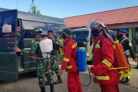 Kodim 1008/Tanjung gandeng KPH Tabalong lakukan  penyemprotan disinfektan