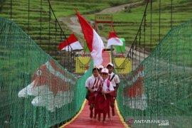 TNI hadirkan jembatan gantung Bima Sakti untuk warga di perbatasan  RI-Timor Leste