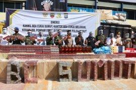 Bea Cukai Sumut musnahkan barang tangkapan senilai Rp3,2 miliar