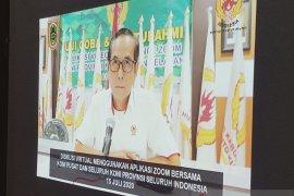 KONI Kalsel rapat virtual dengan KONI se-Indonesia terkait peliputan PON